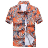 Mens Summer Fashion Beach Hawaiian Shirt Brand Slim Fit Short Sleeve Floral Shirts Casual Holiday Party Clothing Camisa Hawaiana - efair Best spare parts online shopping website