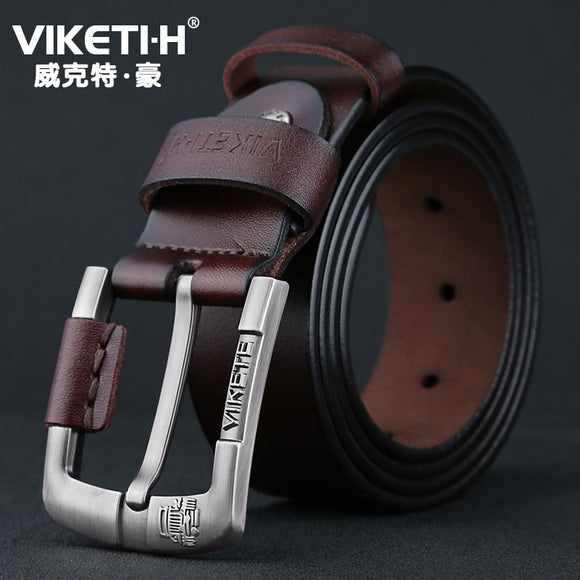 Mens Unique Design Top Quality Solid Cow Genuine Leather Belts Male Accessories Simple Pin Buckle Belt for Men - efair Best spare parts online shopping website