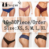 Mierside Random 10-30 Pieces/ Pack Any Different Style girls underwear panties sexy T-pants and Briefs XS/S/M/L/XL - efair.co