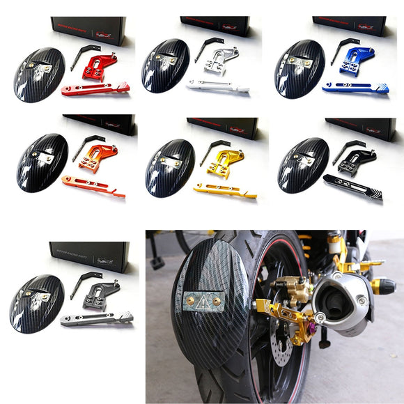 Motorcycle CNC Aluminum Rear Wheel Tire Fender Rear fender Bracket Motorbike Mudguard For Kawasaki Z125 RC150 2010-2015 7 Color