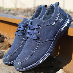 NEW Canvas Men Shoes Denim Lace-Up Men Casual Shoes Plimsolls Breathable Male Footwear Spring Autumn sneakers size 39--46 - efair Best spare parts online shopping website