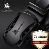 NO.ONEPAUL Luxury brand Male Genuine Leather Strap Belts For Men Top Quality Belt Automatic Buckle black Belts Cummerbunds - efair Best spare parts online shopping website