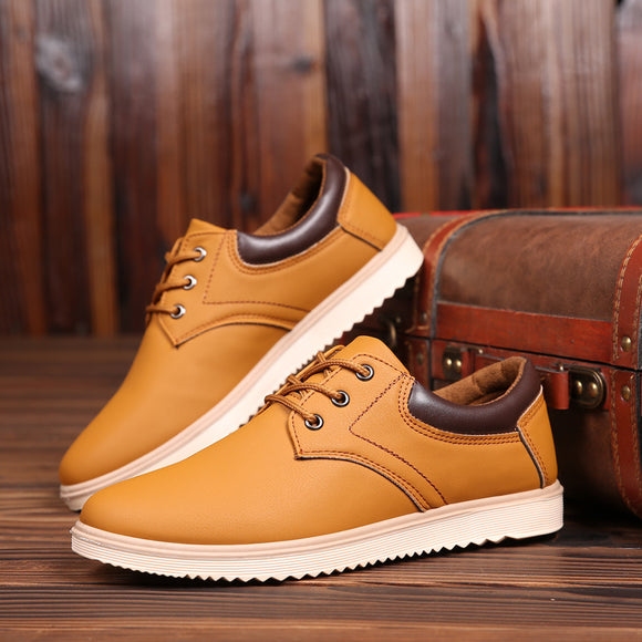 New Leather Shoes Men's Flats Oxfords Shoes Fashion Design Men Causal Shoes Lace-Up Leather Shoes For Men Sneaker Oxford - efair Best spare parts online shopping website
