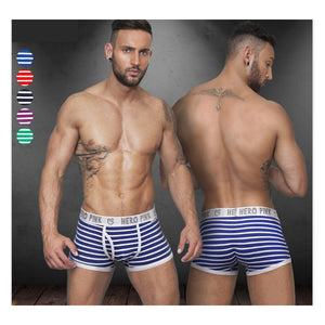 New Men Boxers Shorts Male Sexy stripe U convex Underpants Breathable Underwear - efair Best spare parts online shopping website