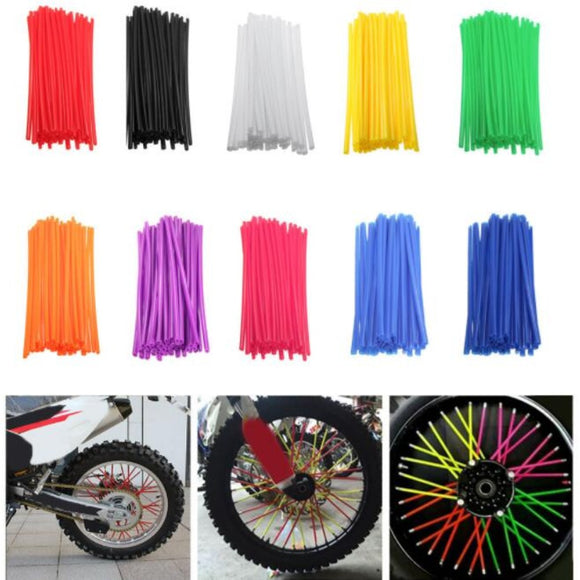 New Motorcycle 72 Pcs Wheel Rim Spoke Wrap Kit Skin Cover For MX Motocross Dirt Pit Bike Enduro Supermoto Honda Suzuki KTM - efair.co
