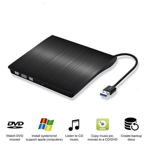 New Portable Ultra-thin External CD Drives DVD Player USB3.0 External DVD Recorder CD-ROM Player for Windows IOS etc - efair Best spare parts online shopping website