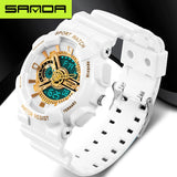 New brand SANDA fashion watch men's LED digital watch G outdoor multi-function waterproof military sports watch relojes hombre - efair.co