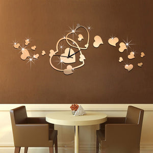 New fashion 3D big size wall clock mirror sticker DIY wall clocks home decoration wall clock meetting room - efair Best spare parts online shopping website