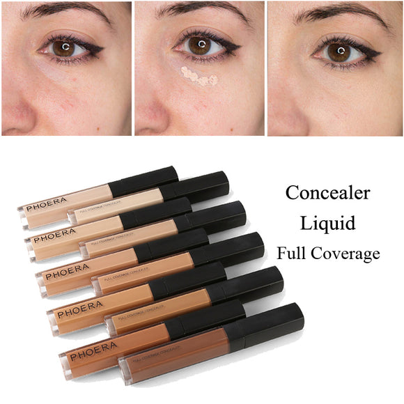 PHOERA 10 Colors Liquid Concealer Stick Makeup Foundation Cream Scars Acne Cover Smooth Makeup Face Eyes Cosmetic TSLM2 - efair.co