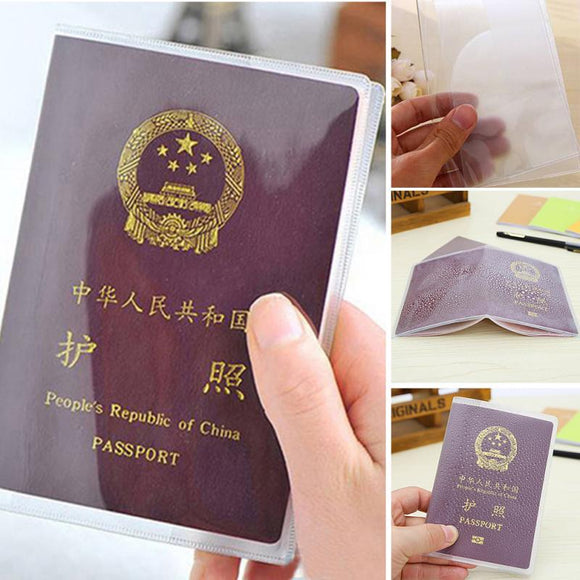 Passport Case Scrub Transparent Waterproof Passport Cover Clear Protective Case PVC Travelling Card Passport Case - efair.co