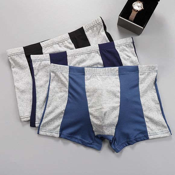 Patchwork Male Large Size Cotton Underwear Men Boxer Comfortable Breathable Men's Underwear Boxer Extra Large Boxer Men - efair Best spare parts online shopping website