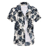 Pink Hawaiian Beach Short Sleeve Shirt Men 2019 Summer Fashion Palm Tree Print Tropical Aloha Shirts Mens Party Holiday Chemise - efair Best spare parts online shopping website