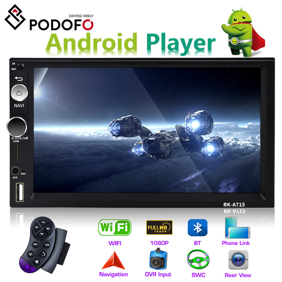 Podofo Car Multimedia Player Andriod 2 din 7