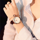 Polygonal dial design women watches luxury fashion dress quartz watch ulzzang popular brand white ladies leather wristwatch - efair.co