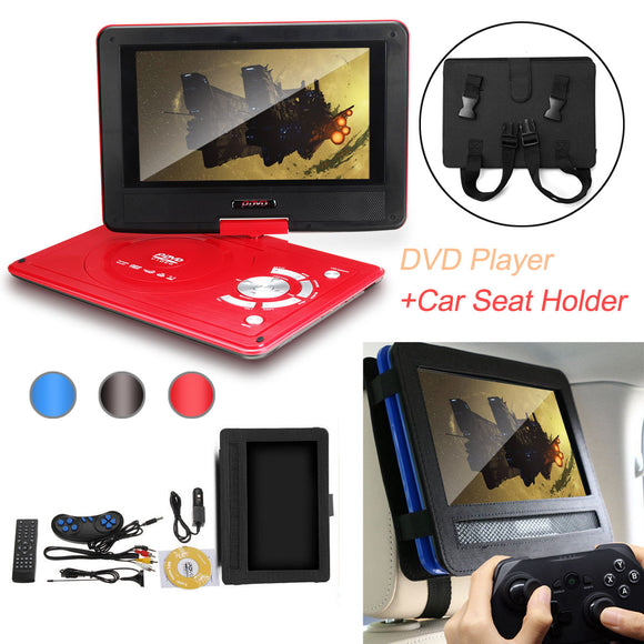 Portable HD DVD Player Video Game Car DVD Supports SD Music Playing 10 Inch Oxford Fabric Cover Bag Car Headrest Mount Holder - efair.co