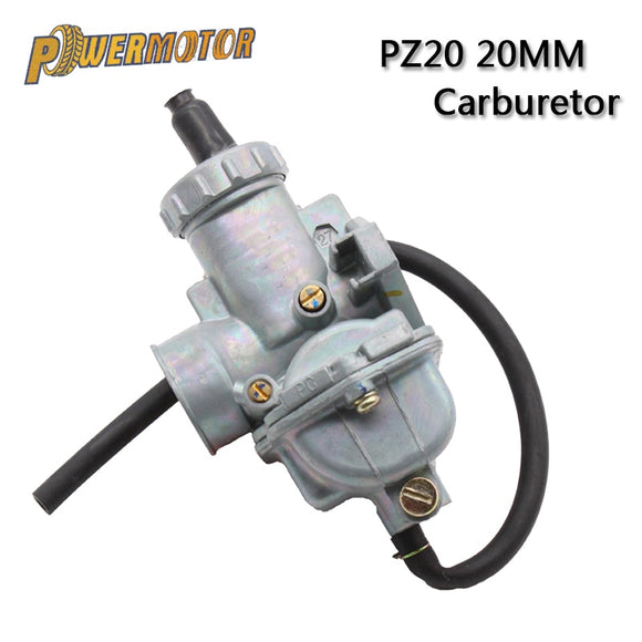 PowerMotor PZ20 20mm Motorcycle Carburetor Carb For 50cc 70cc 90cc 110cc 125cc 135 For Kazuma ATV Quad Go Karts Moped SUNL HK110 - efair.co