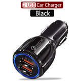 QC3.0 Quick Charger Car Charger Phone Fast Charging for Samsung Xiaomi Huawei Android Charge Adapter Data Tablet Car-Charger - efair.co