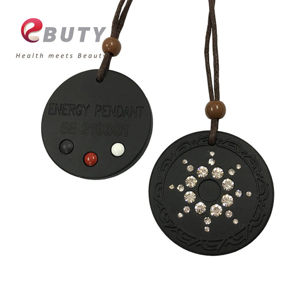 Quantum Scalar Energy Pendant with Germanium & Far Infrared & Tourmaline Stone on  back + Ion Card, Free Shipping - efair.co