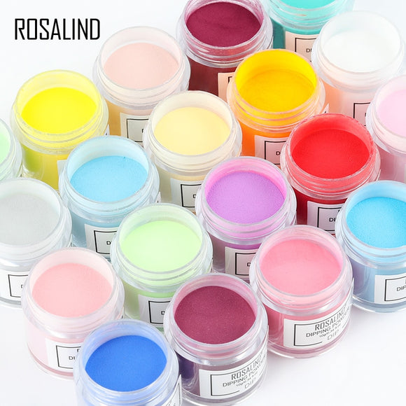 ROSALIND Dip Powder Set Nail Glitter French Nail Polish Holographic Manicure 10g Dry Chrome Pigment Dipping Powder For Nails Art - efair.co
