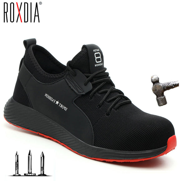 ROXDIA brand plus size 36-46 steel toecap men women work & safety boots fashion lightweight sneakers casual male shoes RXM124 - efair Best spare parts online shopping website