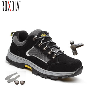 ROXDIA brand plus size 39-48 women men work & safety boots genuine leather steel toecap impact resistant man ladies shoes RXM114 - efair Best spare parts online shopping website