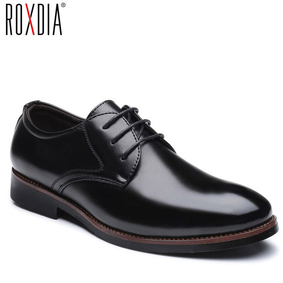 ROXDIA mens dress shoes PU leather for man formal business work male men's oxford flats pointed toe RXM073 size 39-48 - efair Best spare parts online shopping website