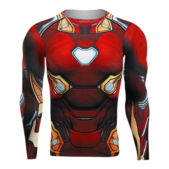 Raglan Sleeve Avengers 3 Iron Man 3D Printed T shirts Men Compression Shirts 2018 Crossfit Tops For Male BodyBuilding Clothing - efair Best spare parts online shopping website