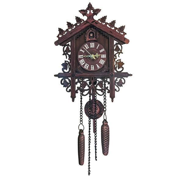 Retro European Style Vintage Cuckoo Clock Hand-carved Wood Wall Clock Handicraft Vintage Alarm Clock for Home Office Deor - efair Best spare parts online shopping website
