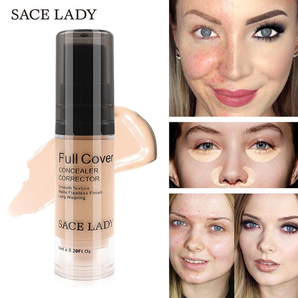 SACE LADY Full Cover 8 Colors Liquid Concealer Makeup 6ml Eye Dark Circles Cream Face Corrector Waterproof Make Up Base Cosmetic - efair.co