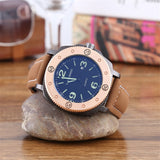 SANCYBIRDS Men Watch Top Fashion Brand Male Real Leather Strap Large Dial Waterproof Clock Business Luminous Watches Hot Sale - efair Best spare parts online shopping website
