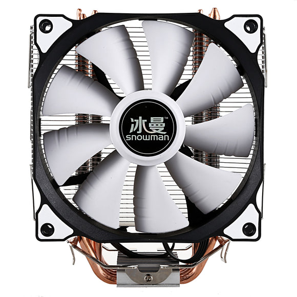 SNOWMAN CPU Cooler Master 4 Pure Copper Heat-pipes freeze Tower Cooling System CPU Cooling Fan with PWM Fans - efair.co