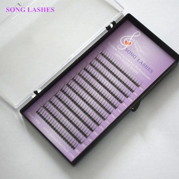 SONG LASHES 0.07 0.10mm thickness High Quality Pre-fanned 2D 3D 4D 5D 6D Volume Lashes Eyelash Extension TWO TRAYS PER PACK - efair Best spare parts online shopping website