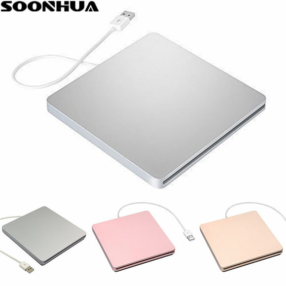 SOONHUA USB 2.0 Portable External CD-RW DVD-RW CD DVD ROM Player Drive Writer Rewriter Burner for iMac MacBook Air Pro Laptop PC - efair Best spare parts online shopping website