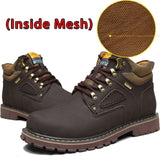 SURGUT Brand Super Warm Men's Winter Leather Men Waterproof Rubber Snow Boots Leisure Boots England Retro Shoes For Men Big Size - efair Best spare parts online shopping website