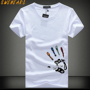 SWENEARO Men T-Shirts Plus Size 5XL 4XL Tee Shirt Homme Summer Short Sleeve Men's T Shirts Male TShirts Camiseta Tshirt Homme - efair Best spare parts online shopping website