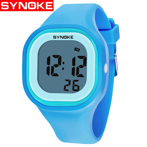 SYNOKE Kids Children Girl Boy Watches Wrist  Clock Silicone LED Light Digital Sport  Wholesale erkek saat - efair.co