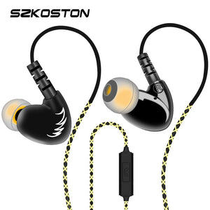 SZKOSTON Professional Stereo Earphone Ear Hook Waterproof Sports earphones Heavy Bass Sound Quality heads For Mobile Phones - efair Best spare parts online shopping website