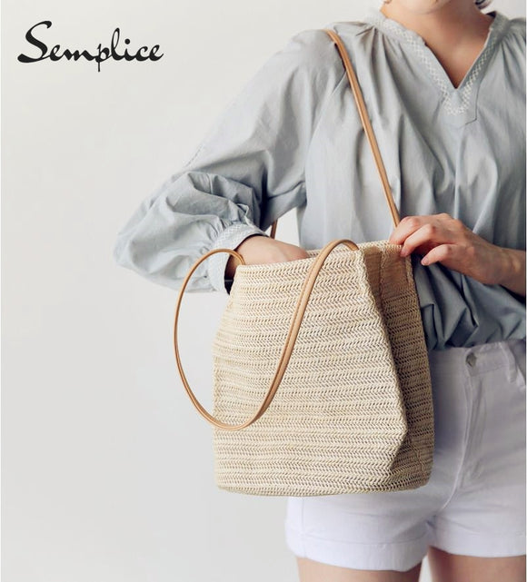 Semplice Hot Ins Vietnam Hand Made Woven Rattan Bag Hollow Out Retro Art Women Bag - efair Best spare parts online shopping website
