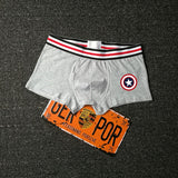 Sexy USA movie cartoon pattern printed Men Boxer Soft Breathable Underwear Male Comfortable Solid Panties Underpants Cueca Homme - efair.co