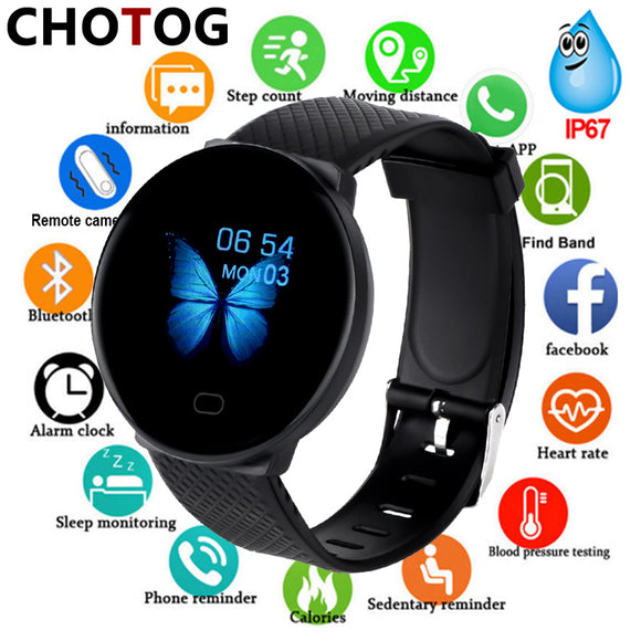 Smart Watch Men 1.3'' Screen Fitness Tracker Ip67 Waterproof Blood Pressure Heart Rate Monitor Smartwatch Woman For Android IOS - efair.co