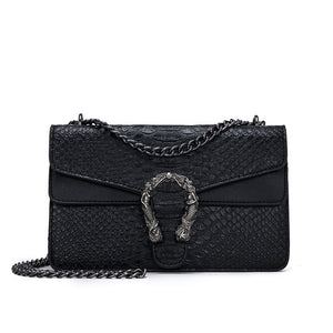 Snake Fashion Brand Women Bag Alligator PU Leather Messenger Bag Designer Chain Shoulder Crossbody Bag Women Handbag Bolso Mujer - efair Best spare parts online shopping website