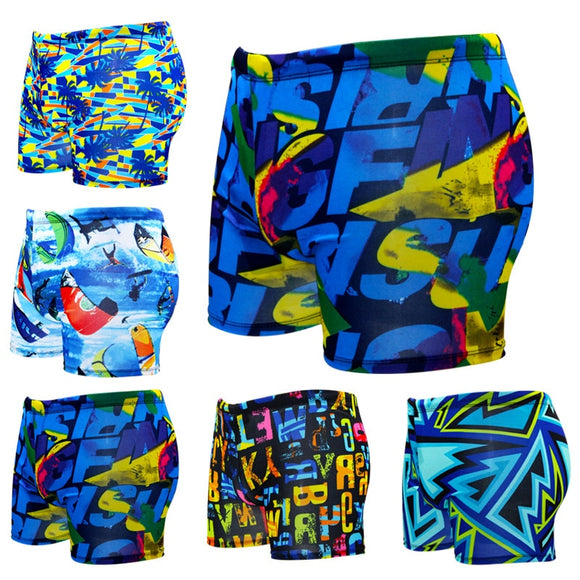 Summer Multi Printed Men Swimming Trunks Elastic Swimwear Male Thin Beach Swimmsuit Short Briefs Plus Size Surfing Boxer Shorts - efair Best spare parts online shopping website