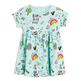 Toddler Girl Dresses Summer Animal Floral Cotton Kids Dresses for Girls Clothes Striped Children Casual Dress Princess Costume - efair.co