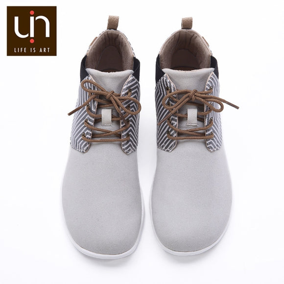 UIN Perth Series Autumn/Winter Boots Women Microfiber Suede Ankle Boots White/Blue Ladies Casual Flat Shoe Outdoor Fashion Boots - efair Best spare parts online shopping website
