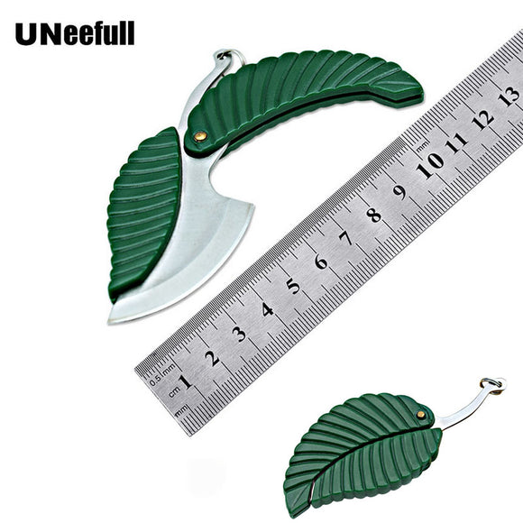 UNeefull Mini Folding Leaf Shape Pocket Knife,electrician Knife Outdoor Camp Knife Camping Survival Hand Tool - efair Best spare parts online shopping website