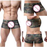 Underwear Slim Underpants Man Military Boxers Sexy Men's Camouflage Color Breathable Soft Shorts - efair.co