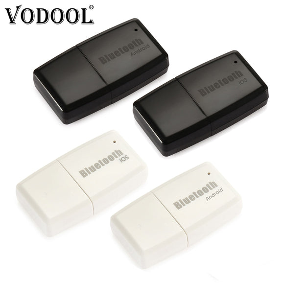VODOOL Mini Wireless Bluetooth V4.1+EDR Stereo 3.5mm AUX USB Dongle Audio Music Receiver Adapter For Android IOS Phone Laptop PC - efair.co