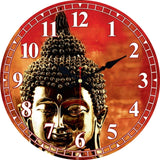 Vintage Buddha Design Clock Silent Living Room Kitchen Home Temple Decor Watches Wall Art Large Wall Clocks No Ticking Sound - efair.co