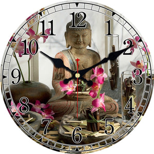 Vintage Buddha Design Clock Silent Living Room Kitchen Home Temple Decor Watches Wall Art Large Wall Clocks No Ticking Sound - efair Best spare parts online shopping website