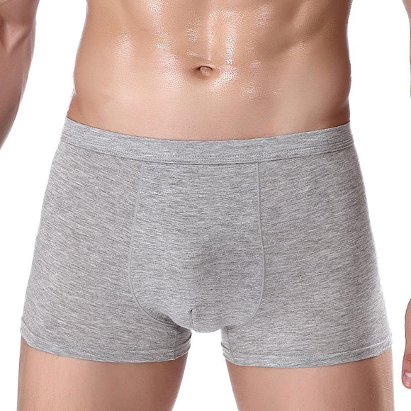 W63  XL-5XL Sexy Solid Soft Men's Boxer Breathable Underwear Male Comfortable Underpants Homme Boxer shorts - efair Best spare parts online shopping website
